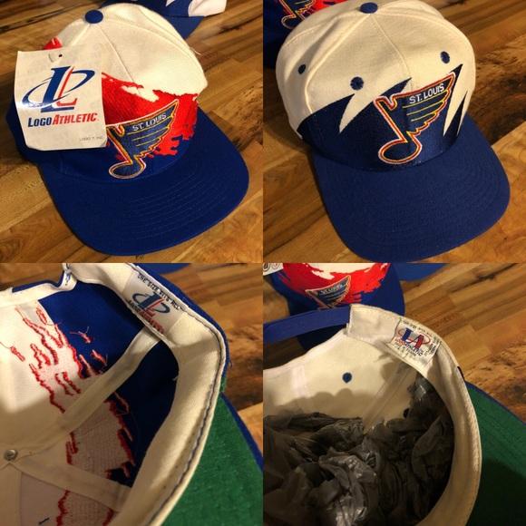 64f2daaf5e489 St Louis Blues Vtg Logo Athletic SnapBack Hat LOT